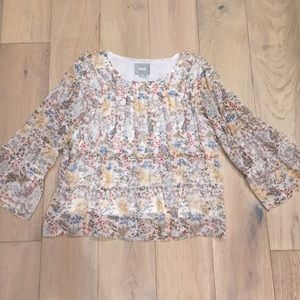 Anthropologie Maeve floral top small